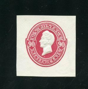UNITED STATES CUT SQUARE CLEAN  SCOTT#U211   MINT HINGED  SCOTT $ 80.00