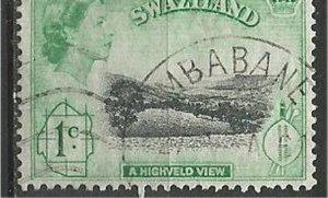 SWAZILAND 1956, used 1p, Highveld view Scott 56
