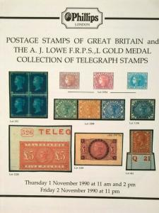 Auction Catalogue AJ LOWE GB TELEGRAPH STAMPS Great Britain Cinderella