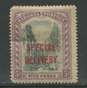 Bahamas -Scott E3 - Special Delivery Issue -1918 - MH - Single 5p Stamp