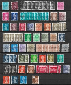 UK Great Britain - collection lot used - 3 pictures  inc pairs
