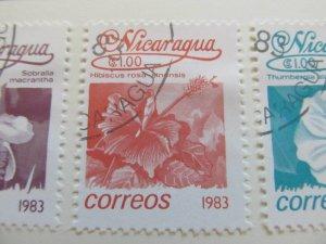Nicaragua 1983 Flower 1cor fine used stamp A11P11F103