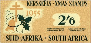 South Africa 1955 2/6d Xmas Stamps Booklet Mint (loose) Stamps