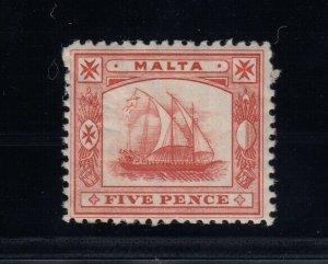 Malta, SG 33x, Mint paper HR (gum crease), Watermark Reversed variety