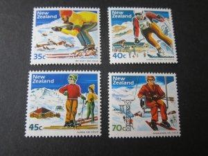 New Zealand 1984 Sc 799-802 Skiing (4) set MNH