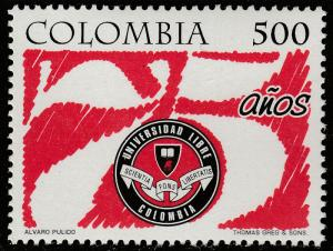 COLOMBIA 1141, FREE UNIVERSITY 75th ANNIVERSARY. MINT, NH. F-VF. (535)