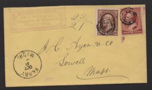 US 19th Century adv. cover Irish+co.  Druggists+Chemists, Ferry Michigan