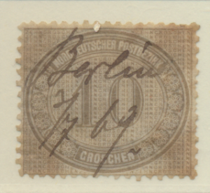 North German Confederation Stamp Scott #25, Used, Pen Cancel, Good Appearance...