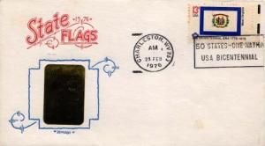 United States, First Day Cover, Flags, West Virginia