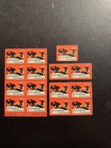 Christmas Seal 1933, CS 27, WX69, , See discription, MNH, $8.00