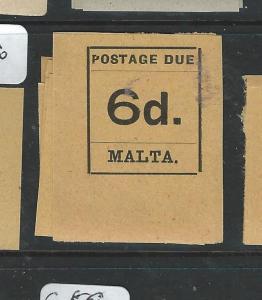 MALTA  (P1807B) POSTAGE DUE 6D  SG D8  MNH