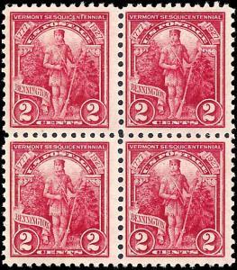 643 Mint,OG,H/NH... Block of 4... SCV $6.40