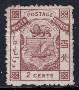 North Borneo - Scott #10 - MH - Thin, sweated gum, markings/reverse - SCV $37.50
