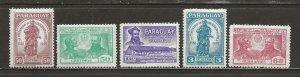 Paraguay Scott catalog # 520-524 Mint NH