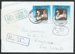 TONGA TO COOK IS 2005 Registered ex Ha'apai Returned to Sender.............64403