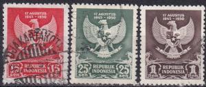 Indonesia #359-61  F-VF Used CV $5.00  Z436