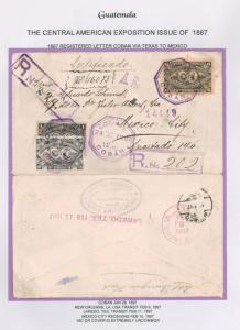 #60//#65 6c Arms/President w/1c/18c on cover (1/28/1897) to Mexico (ex Robert...
