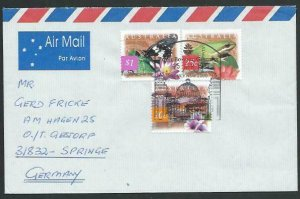 AUSTRALIA 1997 cover to Germany - nice franking - Sydney Pictorial pmk.....14790