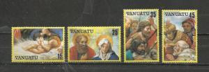 Vanuatu Scott catalogue # 342-345 Christmas Mint NH