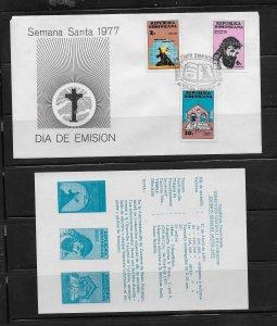 DOMINICAN REPUBLIC STAMPS,COVER SEMANA SANTA 1977 #F18