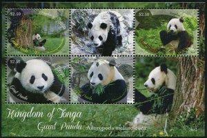 HERRICKSTAMP TONGA Sc.# 1225 Giant Panda S/S