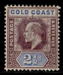 GOLD COAST EDVII SG52, 2½d dull purple and ultramarine, M MINT. Cat £65.