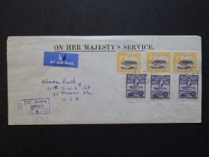 Antigua 1960 Registered OHMA Cover to USA - Z3798