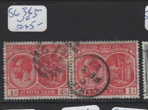 ST KITTS NEVIS  (PP2806B)  KGV  1D  SG 38  PR SON CDS  VFU