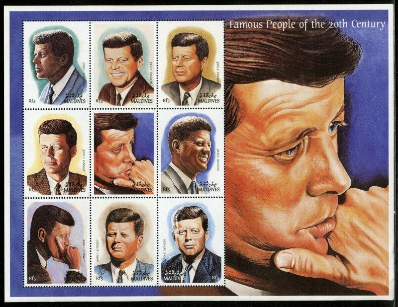 Maldives MNH S/S John F. Kennedy Beautiful EXTRA LARGE SIZE