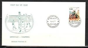 Finland, Scott cat. 602. Volleyball issue on a First day cover. ^