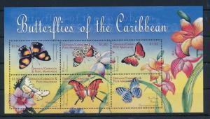 [32012] Grenada Grenadines 2000 Butterflies  Papillons  MNH Sheet