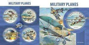 Z08 MLD190310ab MALDIVES 2019 Military planes MNH ** Postfrisch