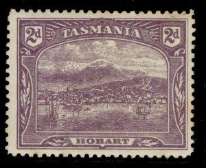 AUSTRALIA - Tasmania GV SG245f, 2d reddish lilac, LH MINT. Cat £48.