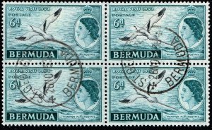 UK STAMP BERMUDA USED BLK OF 4 STAMPS  COLLECTION LOT #43