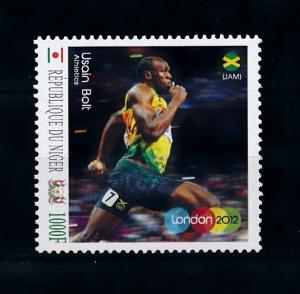 [78062] Niger  Olympic Games London Athletics Usain Bolt  MNH