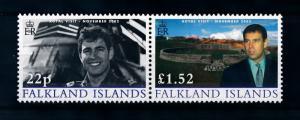 [72067] Falkland Islands 2002 Royal Visit Prince Andrew Pair  MNH