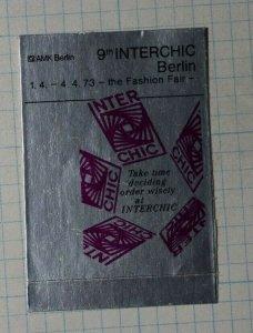 Interchic Berlin Fashion Fair Exposition Poster Stamp Ads