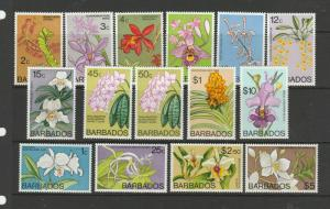 Barbados 1975/9 Change of Wmk, Orchid defs MM SG 510/24