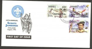 1995 Dominica World Boy Scout Jamboree FDC