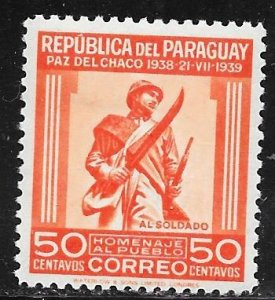 Paraguay 366: 50c Soldier, MH, VF