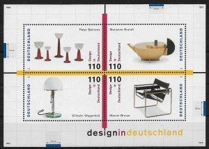 1998 Germany Sc2014  20th Cent. German Design MNH S/S