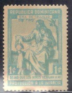 DOMINICAN REPUBLIC SCOTT# RA13 1c  1950  SEE SCAN