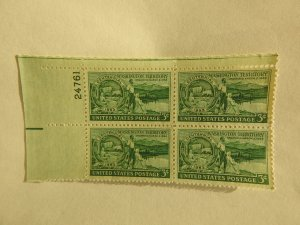 U. S. #1019  MINT  Plate Block  OG  NH