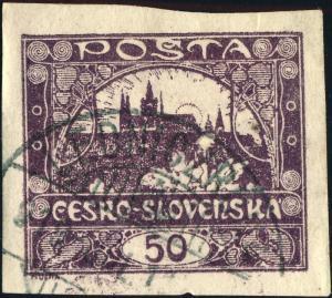 TCHECOSLOVAQUIE / CZECHOSLOVAKIA 1919 LEDNICZRÓNA ~A (LEDNICKE ROVNE) /Mi.19