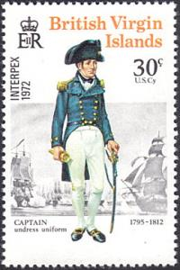 Virgin Islands # 239 mnh ~ 30¢ Captain, Ships