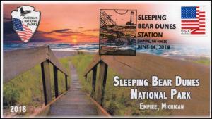 18-150, 2018, Sleeping Bear Dunes, Pictorial Postmark, Event Cover,
