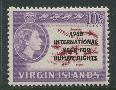 Virgin Is.- Scott 190 - Human Rights -1968 - MNH - Single 10c Stamp