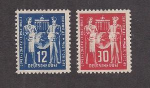 GERMANY - DDR SC# 49-50 F-VF OG 1949