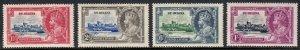 ST. HELENA — SCOTT 111-114 — 1935 KGV SILVER JUBILEE SET — SCV $31.15
