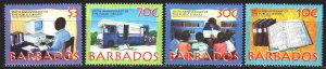 Barbados. 1997. 925-28. 150 years of public library, computer. MNH.